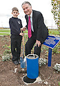 10/05/2010   Copyright  Pic : James Stewart.007_nhs_time_capsule  .::  NHS FORTH VALLEY ROYAL HOSPITAL, LARBERT, TIME CAPSULE :: THE TIME CAPSULE, NOT DUE TO BE OPENED UNTIL 2120,  IS BURIED AT THE NEW FORTH VALLEY ROYAL HOSPITAL :: Left to Right  CHRISTOPHER HUNTER, P5 LARBERT VILLAGE PRIMARY ; IAN MULLEN, CHAIRMAN NHS FORTH VALLEY::