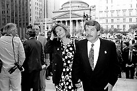 Montreal. CANADA -   May 7, 1992  File Photo -<br /> <br /> Jean Dore, Montreal Mayor and wife  attend the 350th anniversary of Montreal city<br /> <br /> File Photo : Agence Quebec Pressse - Pierre Roussel