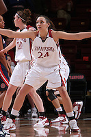 14 February 2008:	Ashley Cimino during Stanford's 69-46 win over Arizona at Maples Pavilion in Stanford, CA.