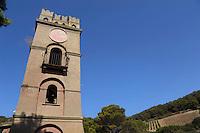 Isola di Gorgona. La torre dell'orologio.Gorgona island.