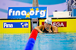 Mareia Belmonte of Spain reacts during the 10th FINA World Swimming Championships (25m) at the Hamdan bin Mohammed bin Rashid Sports Complex on December 15, 2010 in Dubai, United Arab Emirates. Photo by Victor Fraile / Power Sport Images.