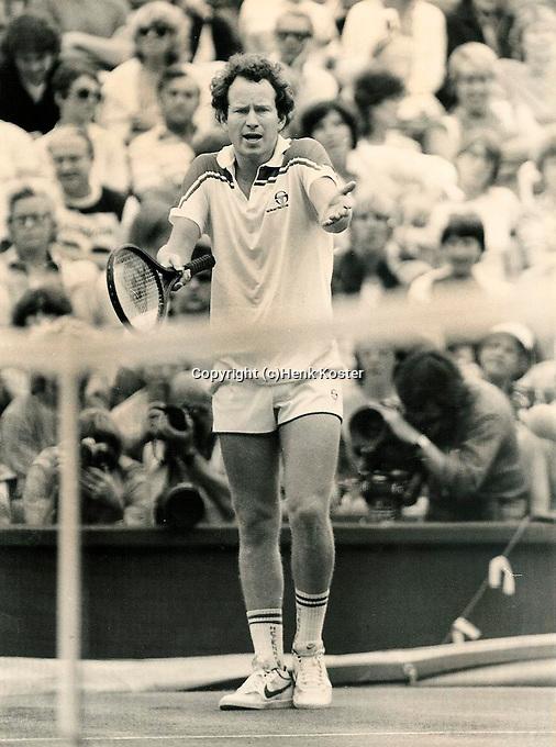1982, John McEnroe argues