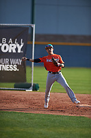 Norman Leon (2) of Evergreen Valley High School in San Jose, California during the Baseball Factory All-America Pre-Season Tournament, powered by Under Armour, on January 14, 2018 at Sloan Park Complex in Mesa, Arizona.  (Zachary Lucy/Four Seam Images)
