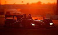 19 March 2011: The #055  Honda Lola of Scott Tucker, Luis Diaz and Ryan Hunter-Reay races at sunset during the 12 Hours of Sebring, Sebrng International Raceway, Sebring, FL. (Photo by Brian Cleary/www.bcpix.com)