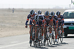 Champion System team warms up before the 2nd Stage of the 2012 Tour of Qatar a team time trial at Lusail Circuit, Doha, Qatar, 6th February 2012 (Photo Eoin Clarke/Newsfile)