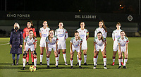 Back row (L-R) match ball sponsor Sonja Buggenhout, goalkeeper Louise Van Den Bergh (1 OHL), Sari Kees (2 OHL), Hannah Eurlings (9 OHL), Lenie Onzia (8 OHL), Amber Tysiak (3 OHL), Zenia Mertens (6 OHL)  front row (L-R) Jill Janssens (7 OHL), Tess Lameir (14 OHL), Marith De Bondt (31 OHL), Luna Vanzeir (10 OHL) and Estee Cattoor (11 OHL) pose for the team photo before a female soccer game between Oud Heverlee Leuven and Sporting de Charleroi on the seventh matchday of the 2020 - 2021 season of Belgian Womens Super League , sunday 15 th of November 2020  in Heverlee , Belgium . PHOTO SPORTPIX.BE | SPP | SEVIL OKTEM