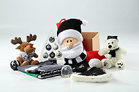 Pictured: A selection of Christmas gift items<br /> Swansea City FC and Ospreys RFC Christmas photo shoot at the Fairwood Trainining Ground, near Swansea, Wales, UK. 17 October 2017