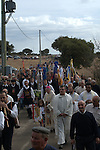 each 4 of october  in a village called Alà dei Sardi, in the very heart of Sardinia, Italy, all devoted to San Francesco partecipate to the  organization of a massive soup offered to thousands of guests come around a country church. the organization appears as a massive assembly line: from the killings of cows and sheeps to cleaning of vegetables, from cooking to distribution of food and supplies
