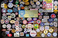 Las Vegas, Nevada.  Union Membership Stickers.