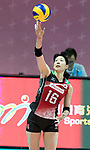 Wing spiker Risa Ishii of Japan in action during the FIVB Volleyball World Grand Prix - Hong Kong 2017 match between Japan and Serbia on 22 July 2017, in Hong Kong, China. Photo by Yu Chun Christopher Wong / Power Sport Images