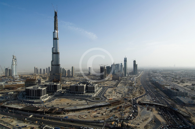 United Arab Emirates, Dubai, Burj Dubai construction site