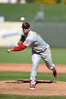 Scottsdale Scorpions pitcher Ethan Stewart (26) during an Arizona Fall League game against the Surprise Saguaros on October 11, 2014 at Surprise Stadium in Surprise, Arizona.  Scottsdale defeated Surprise 7-6.  (Mike Janes/Four Seam Images)
