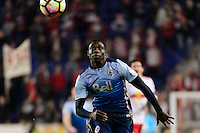 Harrison, NJ - Wednesday Feb. 22, 2017: Alphonso Davies during a Scotiabank CONCACAF Champions League quarterfinal match between the New York Red Bulls and the Vancouver Whitecaps FC at Red Bull Arena.