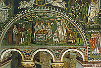 Ravenna: Temple of San Vitale--Hospitality and sacrifice of Abraham.