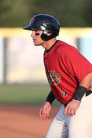 Brandon Drury #3 of the Visalia Rawhide runs the bases during a game against the Stockton Ports at Rawhide Ballpark on May 5, 2014 in Visalia California. Visalia defeated Stockton, 8-6. (Larry Goren/Four Seam Images)