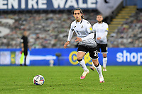 Yan Dhanda of Swansea City in action during the Sky Bet Championship match between Swansea City and Cardiff City at the Liberty Stadium in Swansea, Wales, UK. Saturday 20 March 2021