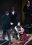 """Corey Cott and Laura Osnes with cast performing during the MCP Production of """"The Scarlet Pimpernel"""" Concert at the David Geffen Hall on February 18, 2019 in New York City."""