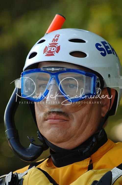 Swift water rescue training on Lake James, in Morganton, NC.