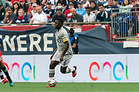 FOXBOROUGH, MA - JULY 25: Victor Wanyama #2 of CF Montreal looks to pass during a game between CF Montreal and New England Revolution at Gillette Stadium on July 25, 2021 in Foxborough, Massachusetts.