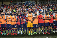 KANSAS CITY, KS - JULY 15: USA bench during a game between Martinique and USMNT at Children's Mercy Park on July 15, 2021 in Kansas City, Kansas.