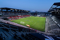 WASHINGTON, DC - SEPTEMBER 06: The sun sets during a game between New York City FC and D.C. United at Audi Field on September 06, 2020 in Washington, DC.