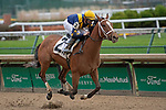 November 27, 2020: Villanelle, trained by Brad Cox and ridden by Florent Geroux, win Race 8, an allowance, at Churchill Downs in Louisville, Kentucky on November 27, 2020. Jessica Morgan/Eclipse Sportswire.