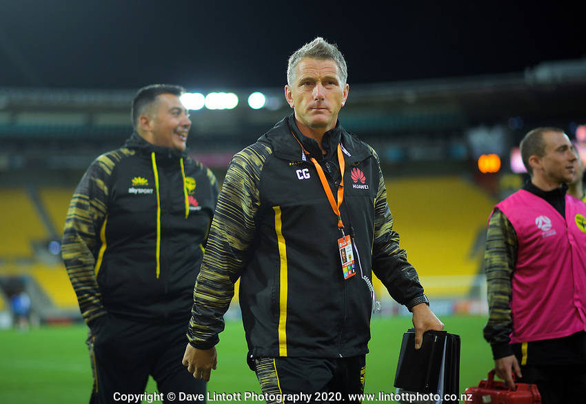 Phoenix assistant coach Chris Greenacre during the A-League football match between Wellington Phoenix and Melbourne Victory FC at Sky Stadium in Wellington, New Zealand on Sunday, 15 March 2020. Photo: Dave Lintott / lintottphoto.co.nz