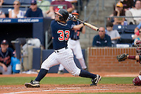 Franco Valdes #33 of the Virginia Cavaliers follows through on his swing versus the Florida State Seminoles at Durham Bulls Athletic Park May 24, 2009 in Durham, North Carolina. The Virginia Cavaliers defeated the Florida State Seminoles 6-3 to win the 2009 ACC Baseball Championship.  (Photo by Brian Westerholt / Four Seam Images)