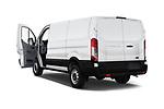 Car images close up view of a 2019 Ford Transit Van 250 LR 4 Door Cargo Van doors