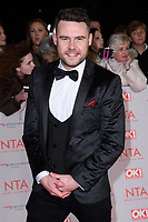 Danny Miller<br /> arriving for the National Television Awards 2018 at the O2 Arena, Greenwich, London<br /> <br /> <br /> ©Ash Knotek  D3371  23/01/2018