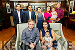 The christening of David Dobrolinski from Castleisland in the Ballygarry House Hotel on Sunday. Seated l to r: Michael, baby David and Irene Dobrolinski.  Godparents standing l to r: Sonny Bidlaoan, Efren Delacruz, Ellen Guardiano, Irene and Layla Hussain, Michael Cagambng.