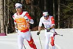Brian Mckeever and Graham Nishikawa, Sochi 2014. Para Nordic Skiing // Ski paranordique.<br />