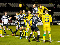 2nd February 2021; St Mirren Park, Paisley, Renfrewshire, Scotland; Scottish Premiership Football, St Mirren versus Hibernian; Ryan Porteous of Hibernian climbs to win the header and scores the opening goal in the 55th minute