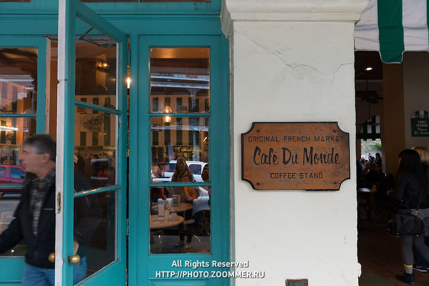 Cafe du Monde in French Quarter, New Orleans