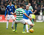 St Johnstone v Celtic…03.02.19…   McDiarmid Park    SPFL<br />Richard Foster and Emilio Izagiuirre<br />Picture by Graeme Hart. <br />Copyright Perthshire Picture Agency<br />Tel: 01738 623350  Mobile: 07990 594431