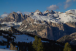 Near Castelrotto along drive to Val Gardena, Italy,