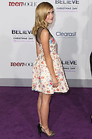 """LOS ANGELES, CA - DECEMBER 18: Actress Kiernan Shipka arrives at the World Premiere Of Open Road Films' """"Justin Bieber's Believe"""" held at Regal Cinemas L.A. Live on December 18, 2013 in Los Angeles, California. (Photo by Xavier Collin/Celebrity Monitor)"""