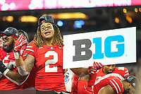 Indianapolis, IN - December 2, 2018: Ohio State Buckeyes defensive end Chase Young (2) after the Big Ten championship game between Northwestern  and Ohio State at Lucas Oil Stadium in Indianapolis, IN.   (Photo by Elliott Brown/Media Images International)