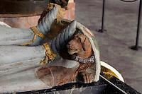Grabplatte in der Krypta des Klosters in Kreszow (Grüssau), Woiwodschaft Niederschlesien (Województwo dolnośląskie), Polen, Europa<br /> Gravestone in the crypt of Kreszow monastery, Poland, Europe