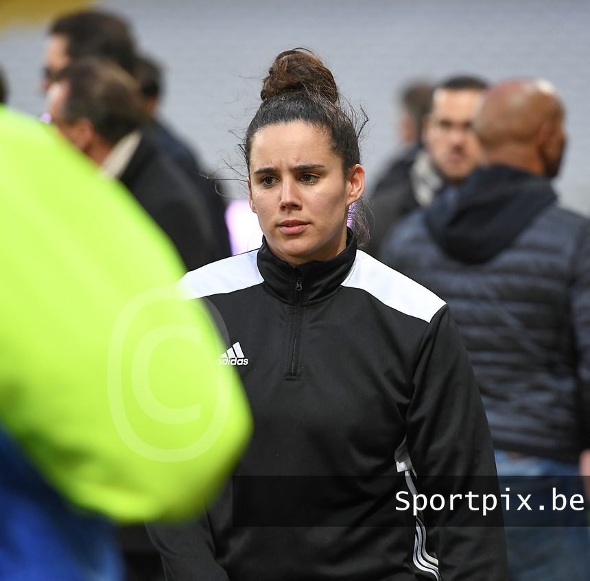 20191102 - LENS , FRANCE : Arras ' Pauline Crammer pictured during the female soccer match between Arras Feminin and Lille OSC feminin, on the 8th matchday in the French Women's Ligue 2 – D2 at the Stade Bollaert Delelis stadium , Lens . Saturday 2 November 2019 PHOTO DAVID CATRY | SPORTPIX.BE