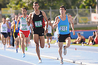 "MEDELLÍN -COLOMBIA-25-05-2013. El atleta venezolano Alexis Peña (215) ganó la prueba de los 1500 mts. planos y  en segundo lugar llegó Rafith Rodríguez (23) de Colombia durante el Grand Prix Internacional ""Ximena Restrepo"" realizado en Medellín. / Athlete Alexis Peña (215) from Venezuela won the 1500 flat meters and the second place was to  Rafith Rodríguez (23) from Colombia during the  Grand Prix Internacional ""Ximena Restrepo"" in Medellin.  Photo: VizzorImage/STR"