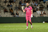 8th February 2021; Jubilee Stadium, Sydney, New South Wales, Australia; A League Football, Sydney Football Club versus Wellington Phoenix; Andrew Redmayne of Sydney celebrates as his team take a 2-0 lead in the 64th minute