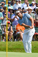 4th July 2021, Detroit, MI, USA;  Curtis Thompson (USA) chips up on to 18 during the Rocket Mortgage Classic Rd4 at Detroit Golf Club on July 4,