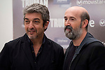 "Argentinian actor Ricardo Darin and spanish actor Javier Camara during the presentation of the film ""Truman"" at NH Tepa´s Palace in Madrid October 26, 2015. <br /> (ALTERPHOTOS/BorjaB.Hojas)"