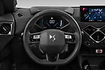 Car pictures of steering wheel view of a 2021 Ds DS-3-Crossback Performance-Line 5 Door SUV Steering Wheel