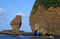Coastal rock formations, Bourail, New Caledonia.
