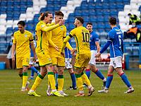 18th April 2021; Stair Park, Stranraer, Dumfries, Scotland; Scottish Cup Football, Stranraer versus Hibernian; Martin Boyle of Hibernian celebrates after scoring Hibs third goal in minute 73 for 0-3