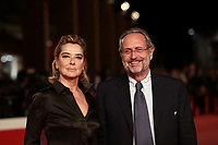 L'attrice italiana Monica Guerritore posa con suo marito Roberto Zaccaria sul red carpet di apertura della 13 edizione della Festa del Cinema di Roma, 18 ottobre 2018.<br /> Italian actress Monica Guerritore poses with his husband Roberto Zaccaria on the 13th Rome Film Festival opening red carpet in Rome, October 18, 2018.<br /> UPDATE IMAGES PRESS/Isabella Bonotto