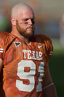 30 September 2006: Texas defender Tully Janszen warms up prior to the Longhorns 56-3 victory over the Sam Houston State Bearkats at Darrell K Royal Memorial Stadium in Austin, TX.