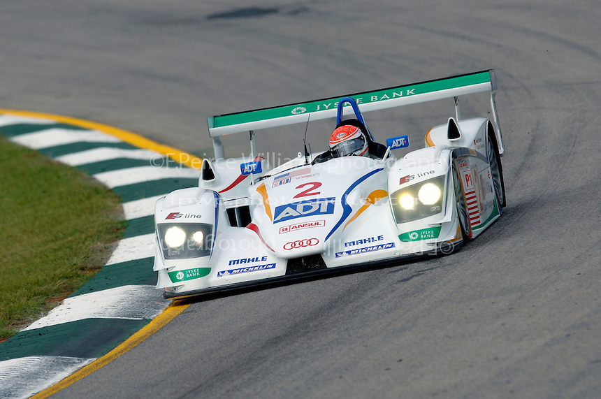 The #2 Champion Audi races to victory in the Petit LeMans...Copyright©F.Peirce Williams 2005.ref.Digital Image Only